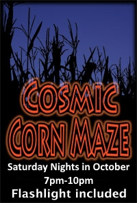 The Cosmic Corn Maze is full of spooky twists at Yahoo Farm.